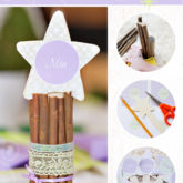whimsical woodland diy tutorial for star name cards