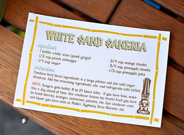 White Sand Sangria Recipe