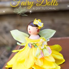 wooden peg fairy doll