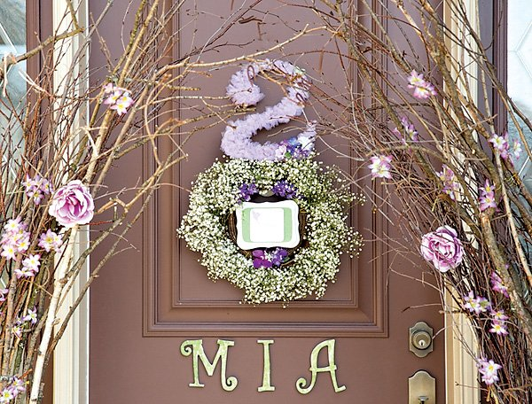 woodland party entrance decorations