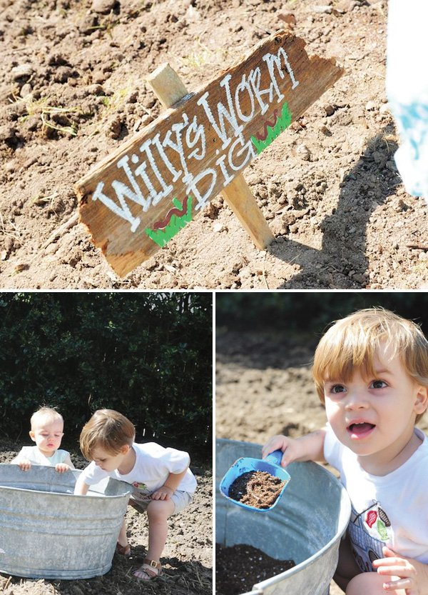 Worm Dig Party Activity