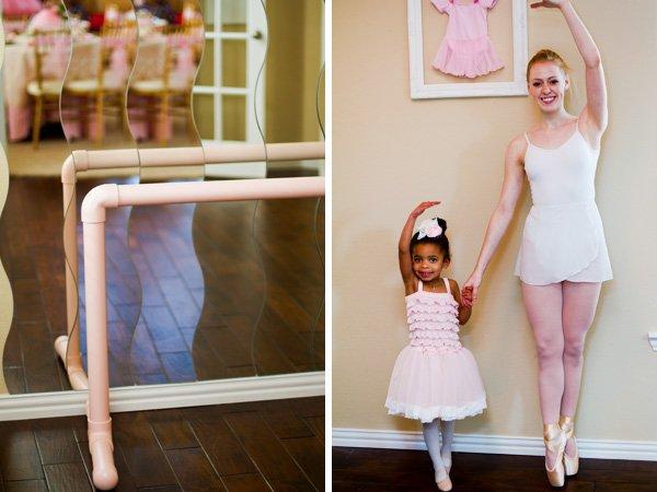 Ballerina ballet bar