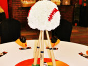 Flower Baseball Centerpiece