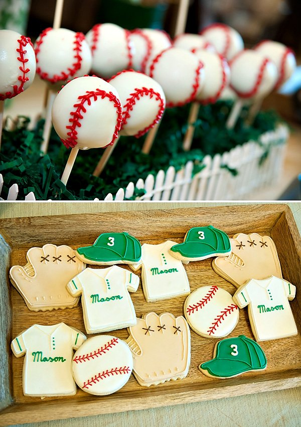 Vintage inspired baseball cookies