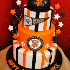 San Francisco Giants Themed Birthday Cake