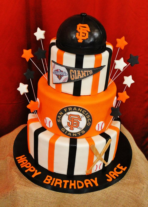 Birthday Cake Design San Francisco : Giants Themed Baseball Birthday Party // Hostess with the ...