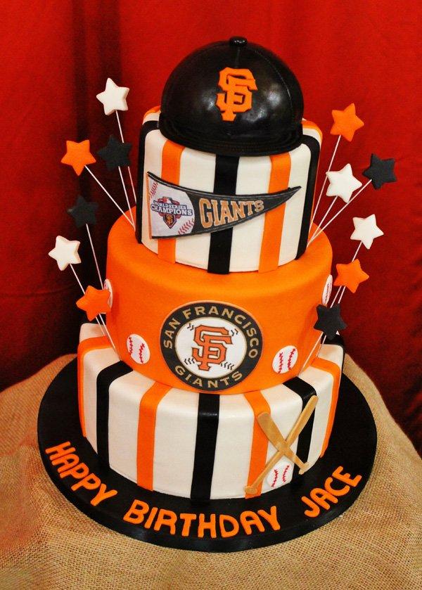 San Francisco Giants Themed Birthday Cake