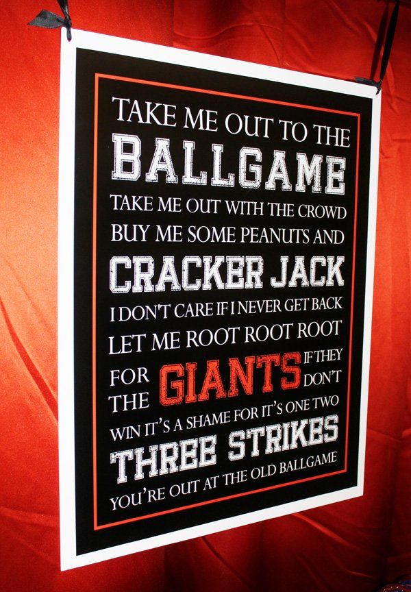 Baseball Party Sign