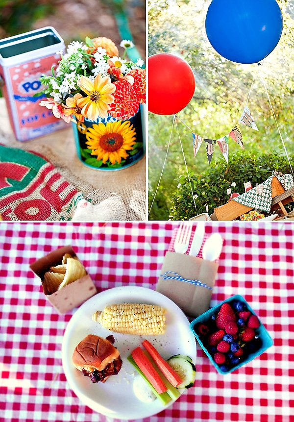 Farmer\'s Market Inspired Backyard BBQ {First Birthday} // Hostess ...