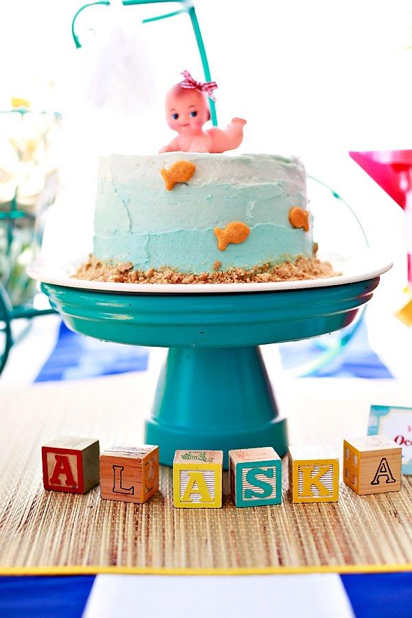 beach baby cake