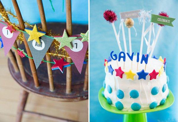 Space & Stars Inspired Birthday Cake