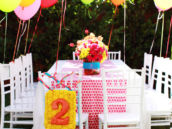 Pink Polka Dot Tablescape