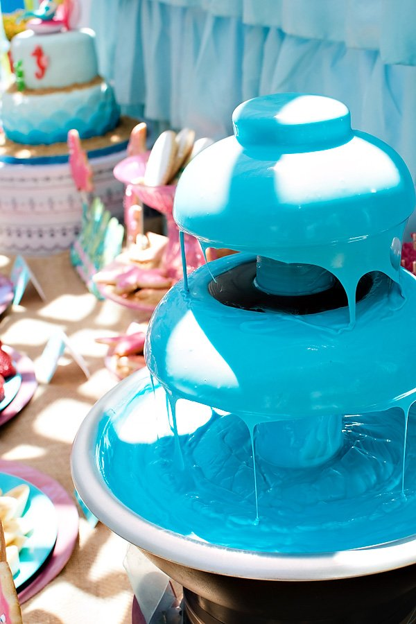 Blue Chocolate Fountain