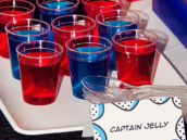 blue and red captain america food