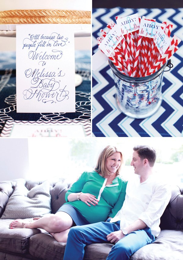 Blue and Red Baby Shower