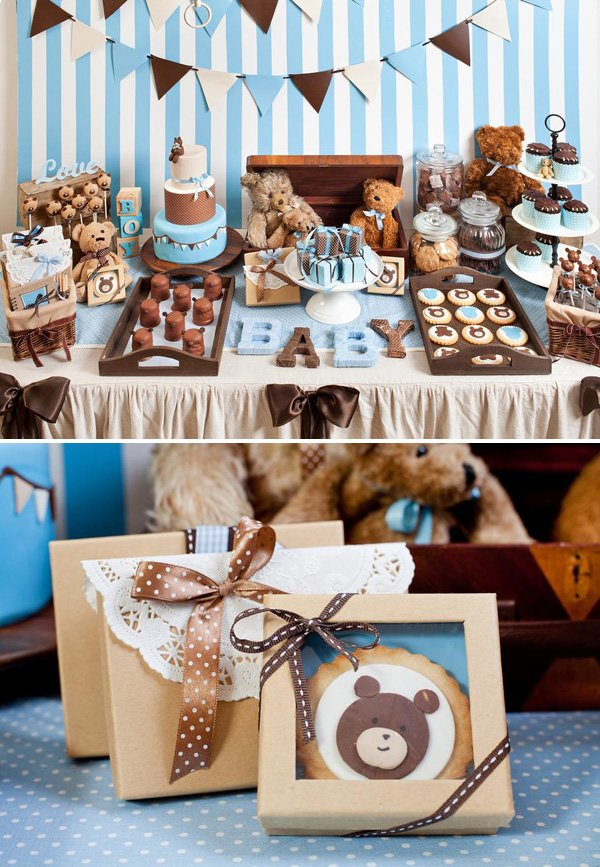 Boys Teddy Bear Baby Shower