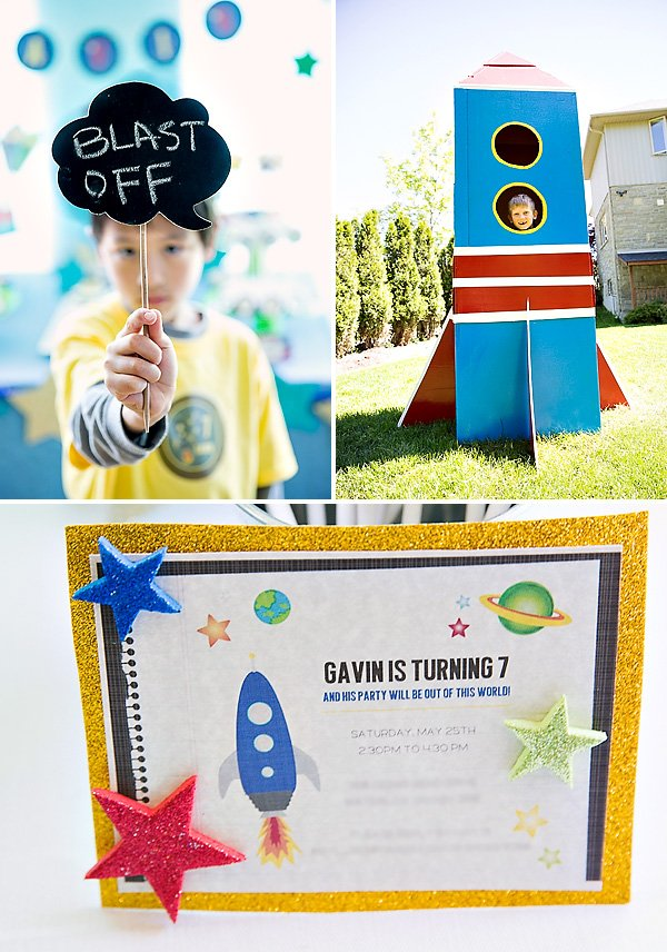 Boys Outer Space Birthday Party Ideas