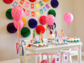 Rainbow Polka Dot Gumball Birthday