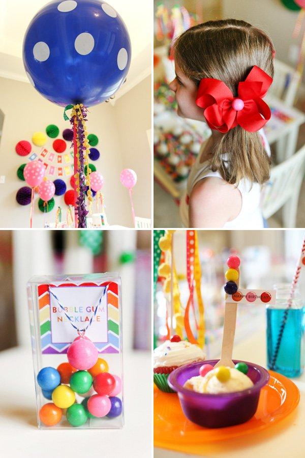 Bubblegum Themed Birthday Party Ideas