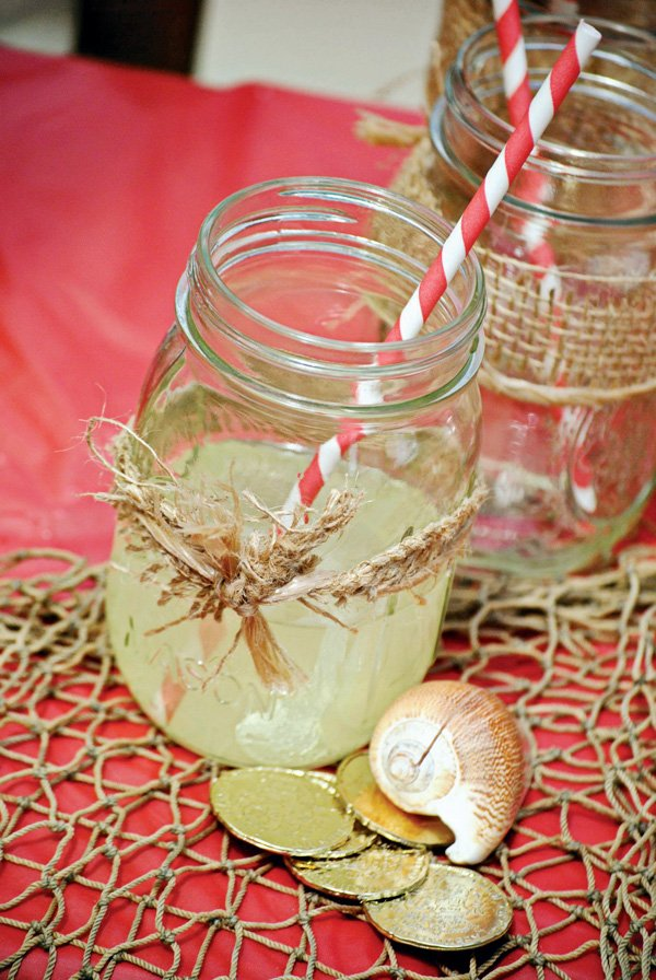 burlap mason jar decoration