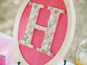 Button monogram decor