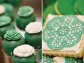 Green Lace Cookies