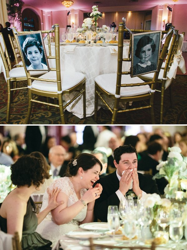 Bride & Groom old photograph chair backs