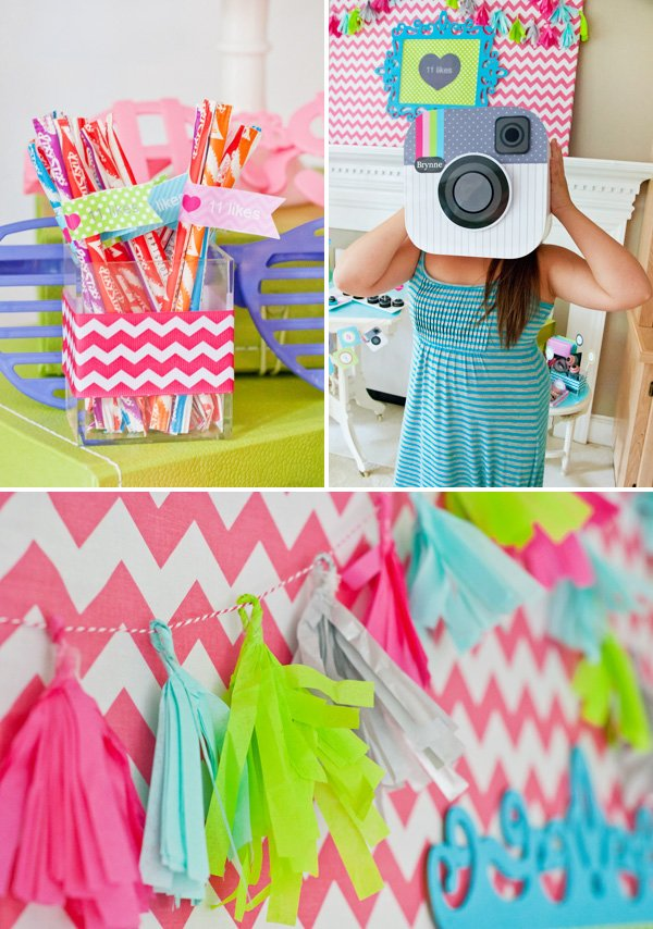 girly chevron party decor