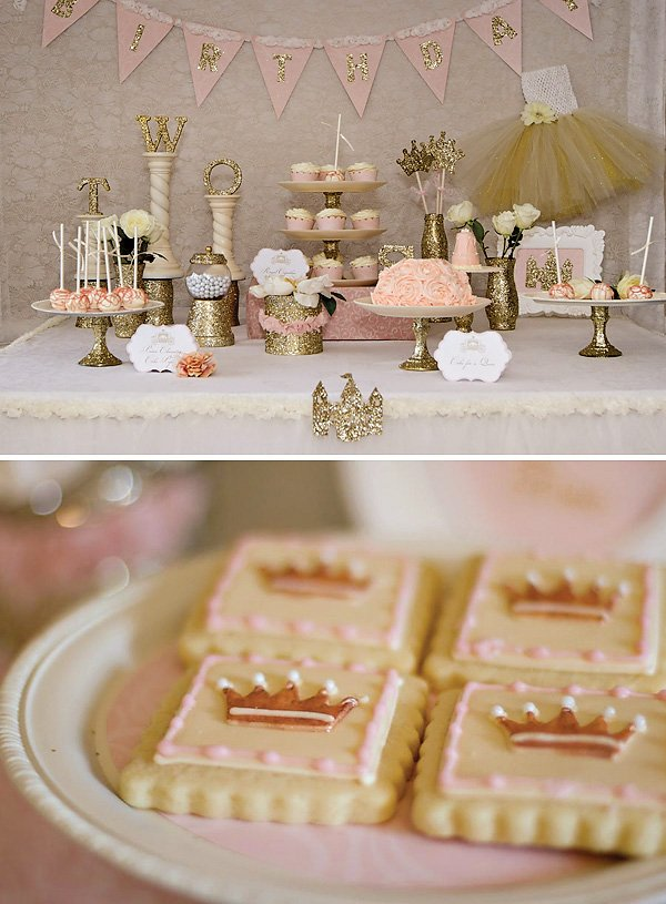 Sparkly Princess Dessert Table
