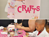 Doc McStuffins party crafting station