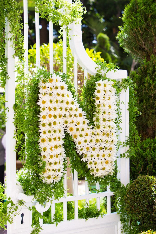 Daisy flower monogram
