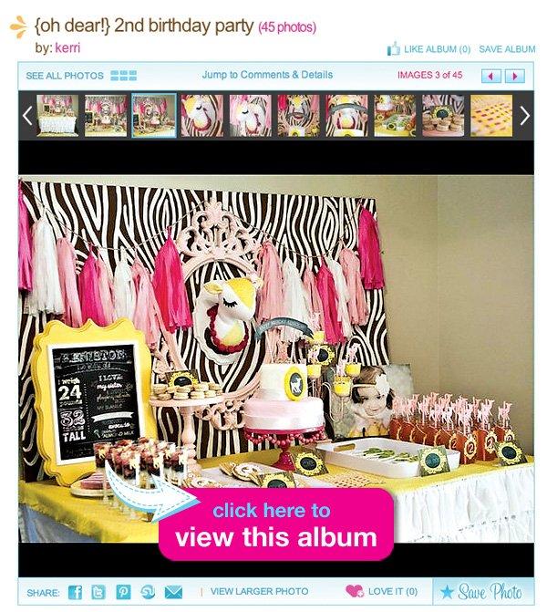 deer themed dessert table