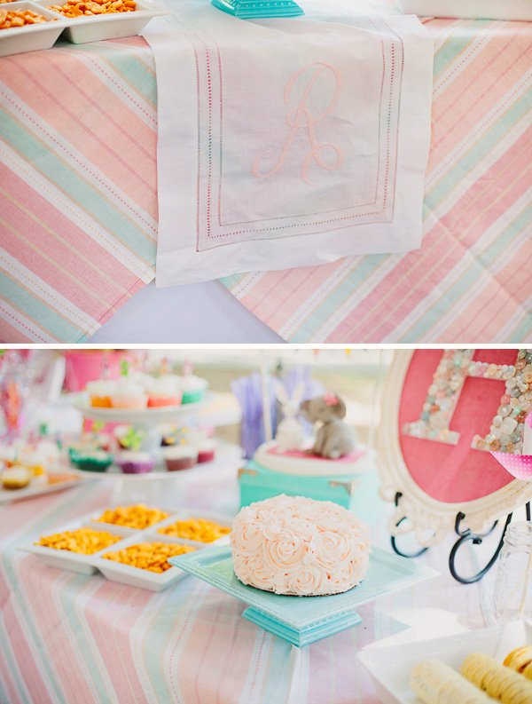 Pinnk and blue dessert table