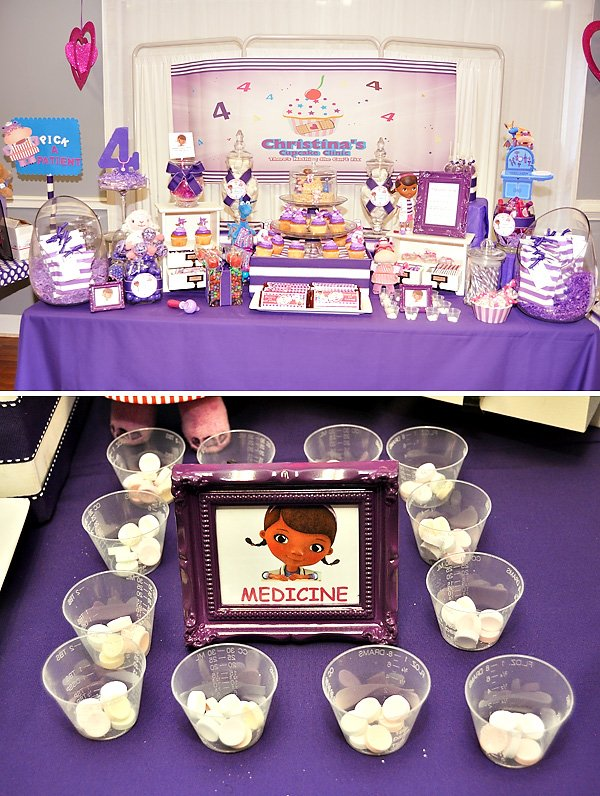 Pink And Purple Doc Mcstuffins Party Hostess With The