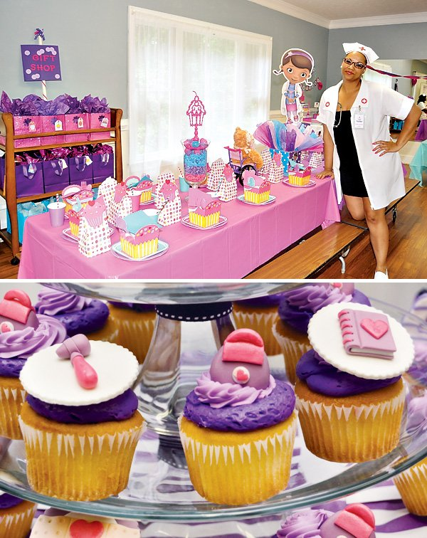Doc McStuffins Themed Cupcakes
