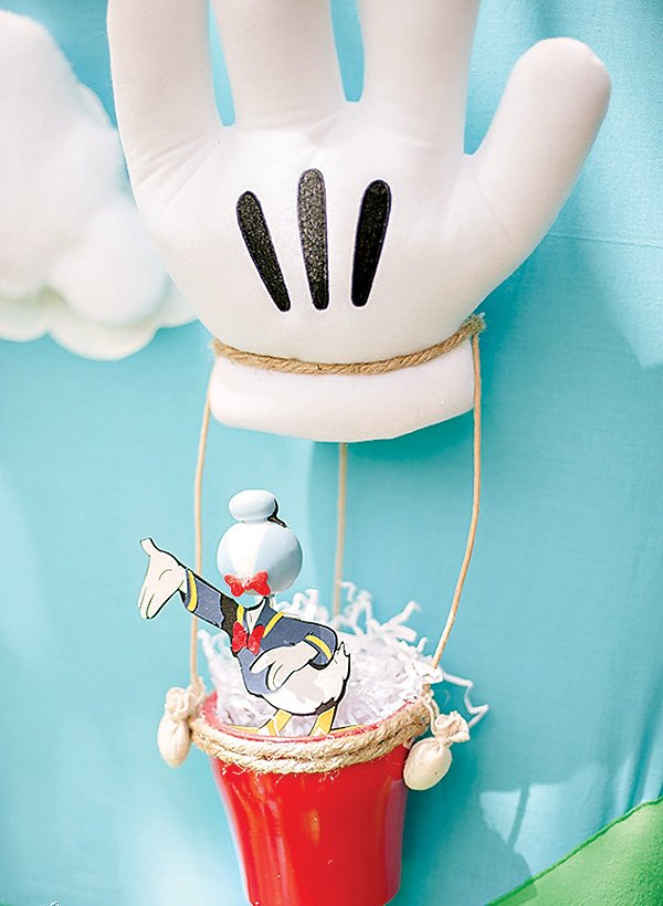 mickey mouse glove hot air balloon