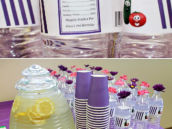 Pink and Purple Drink Station Ideas