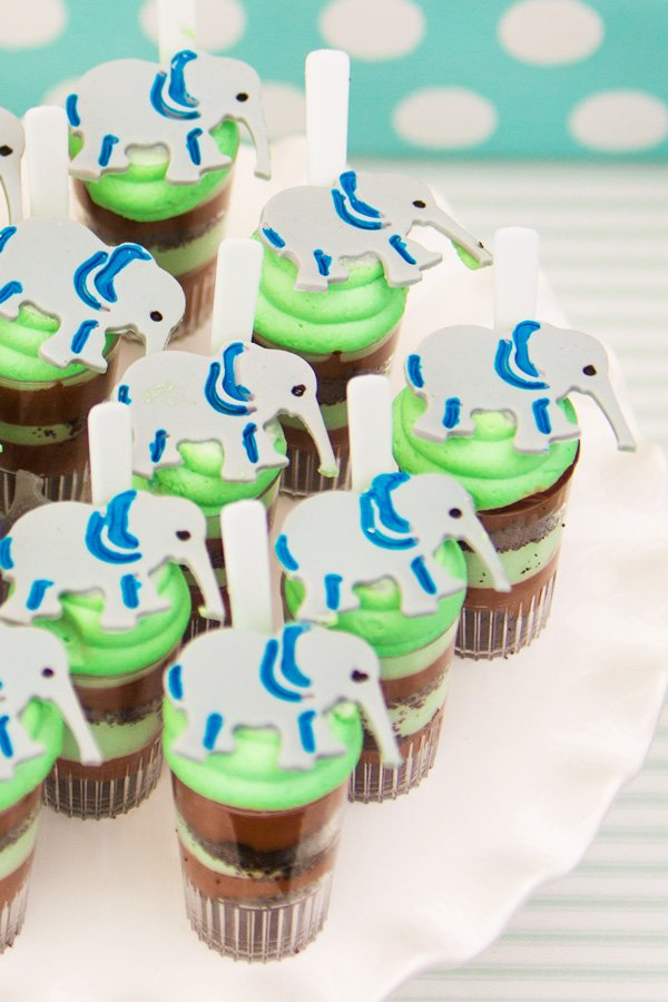 Cute elephant parfait toppers