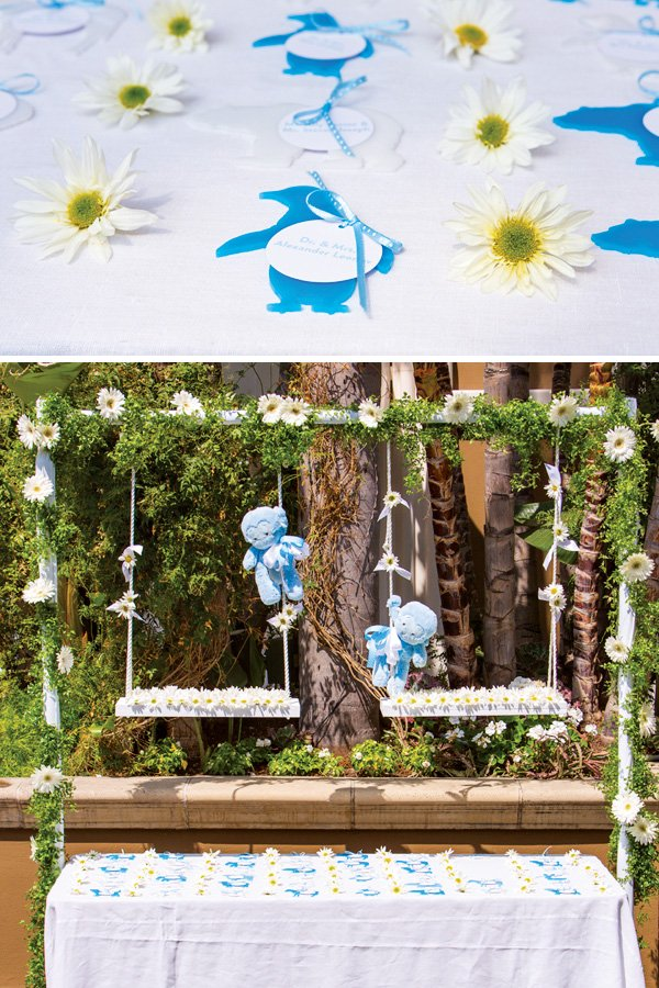 First birthday party escort cards