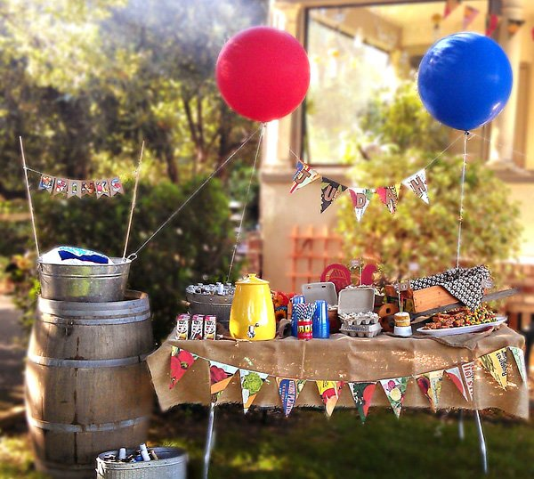 Farmer 39 S Market Inspired Backyard Bbq First Birthday