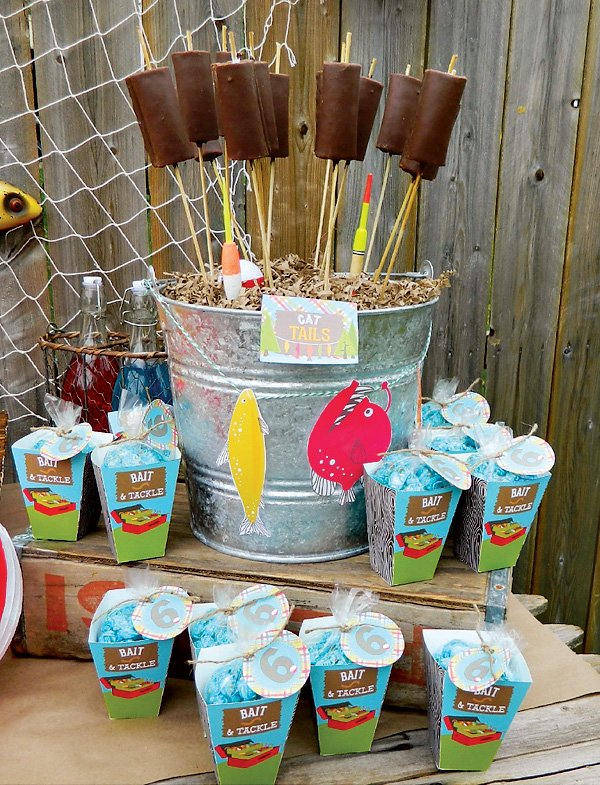a reel fun gone fishing birthday party hostess with
