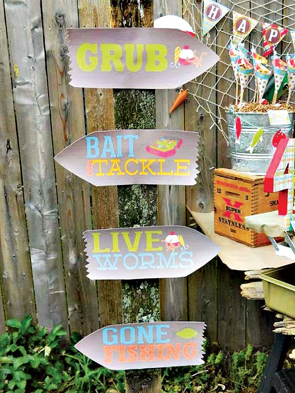Fishing Party Signs