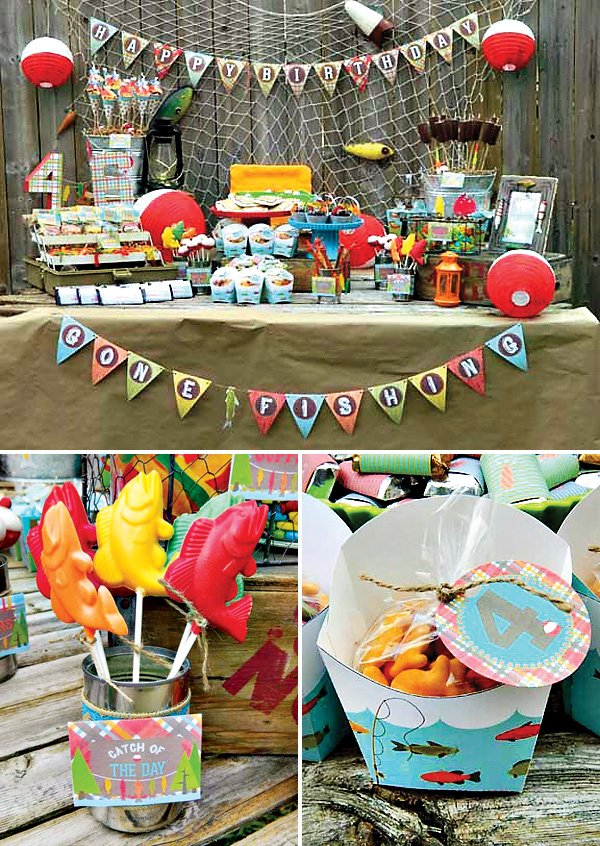 "A Reel Fun ""Gone Fishing"" Birthday Party // Hostess With"