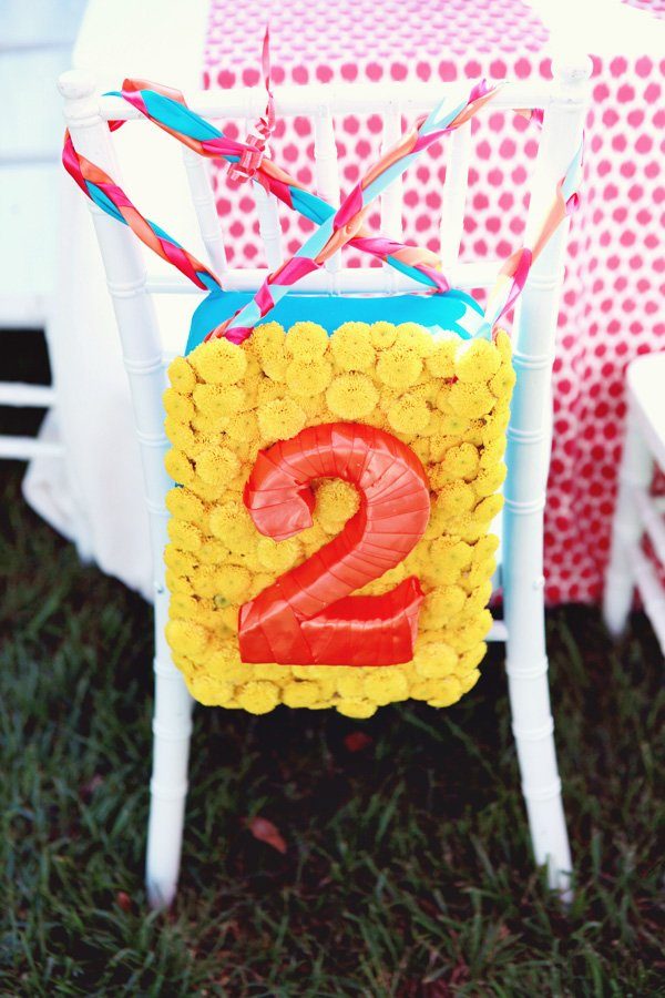 Yellow Flower Chair Back