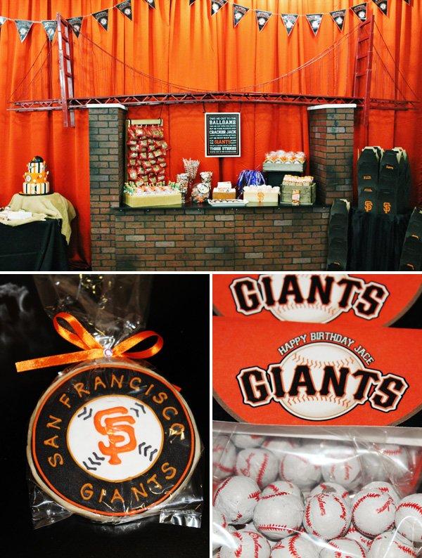 Orange and Black Baseball Dessert Party