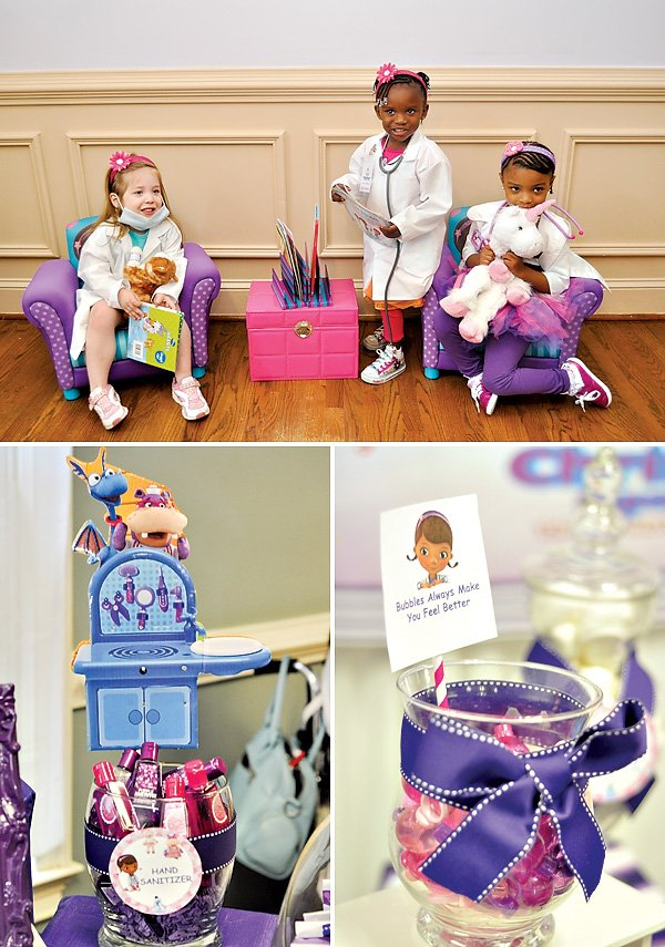 Purple Doc McStuffins girls birthday party