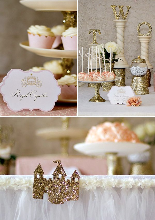 Glittered Party Decorations