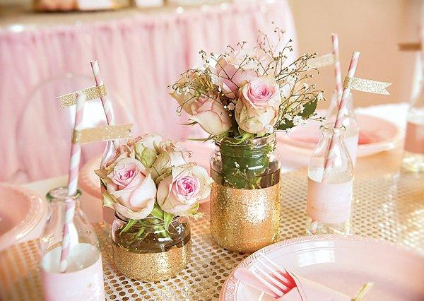 Gold Glitter Centerpieces