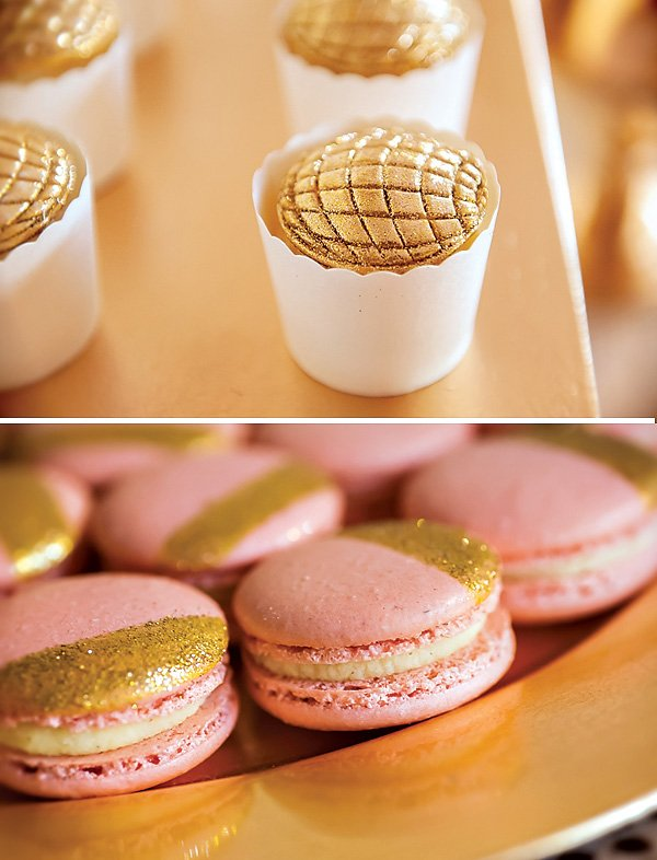 Gold Disco Ball Cupcake Toppers