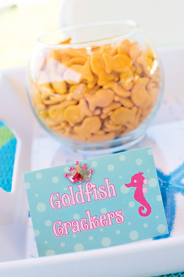 Under the Sea goldfish snacks